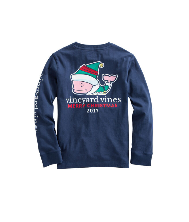 Boys Long-Sleeve Elf Whale Pocket T-Shirt