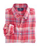 Beach Rose Plaid Slim Murray Shirt