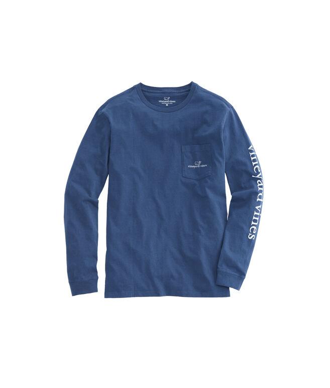 Long-Sleeve Vintage Whale Logo Pocket T-Shirt