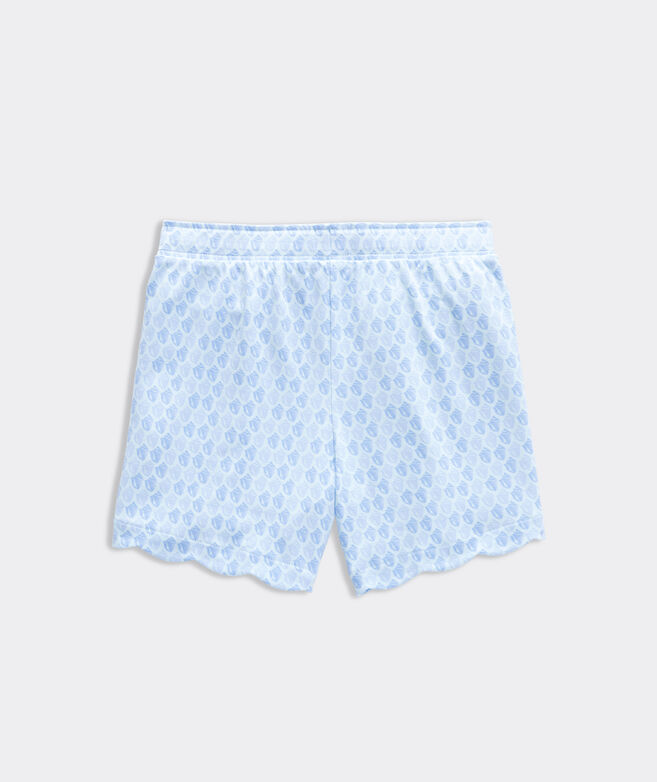 Girls' Scattered Shells Scallop Shorts