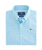 Boys Beach Rose Plaid Performance Whale Shirt