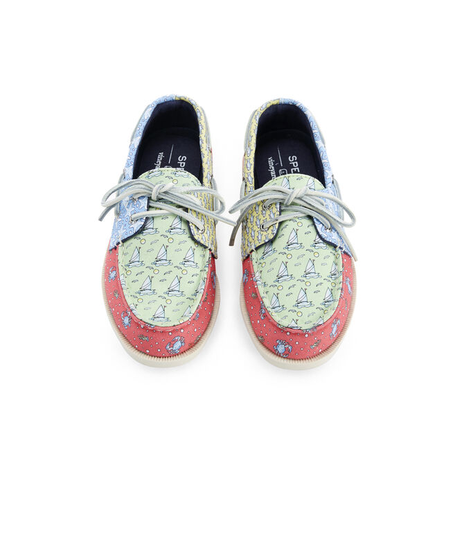 Big Kid's Sperry x vineyard vines Heritage Patchwork Authentic Original Boat Shoe