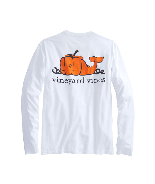 Shop Long Sleeve Pumpkin Whale Pocket T Shirt At Vineyard