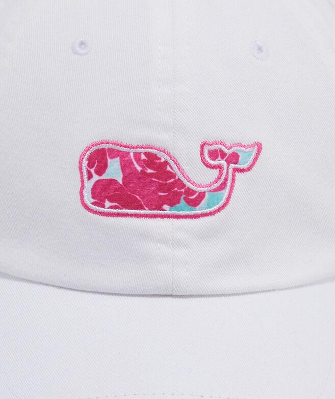 Kentucky Derby Painted Rose Whale Fill Women's Baseball Hat