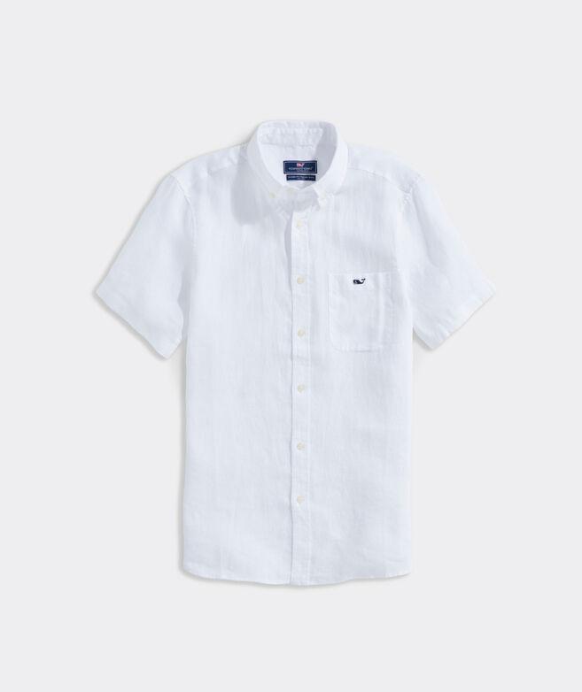 Linen Short-Sleeve Solid Shirt