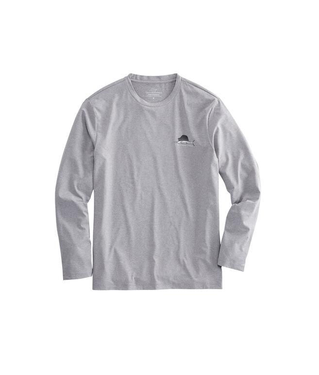 Long-Sleeve Heathered Performance Sailfish T-Shirt