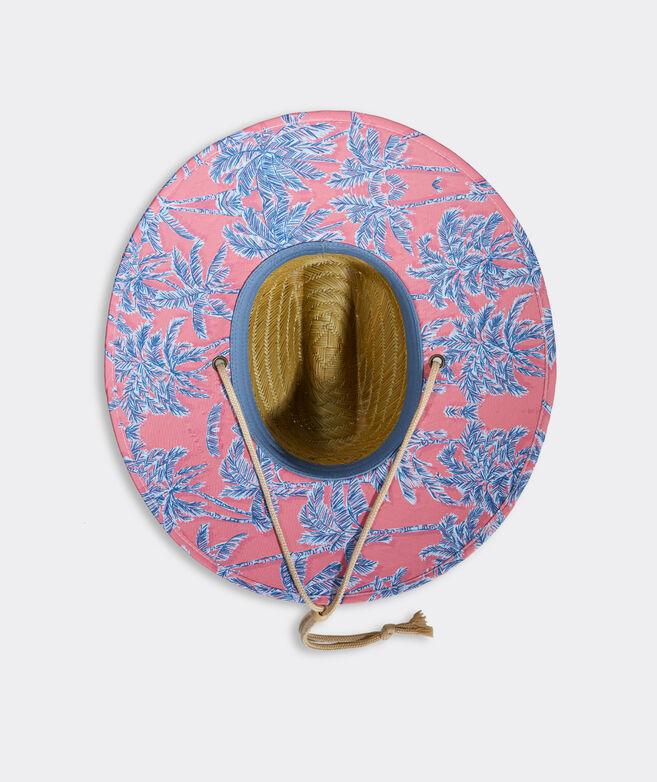 Palms Whale Dot Patch Straw Lifeguard Hat