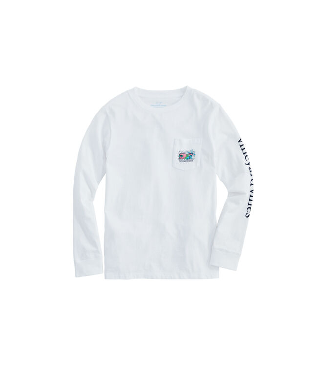 Kids' Apres Ski Bro Whale Long-Sleeve Pocket Tee