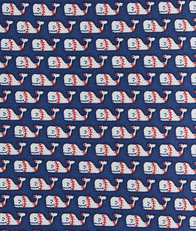 Extra Long Baseball Whale Tie