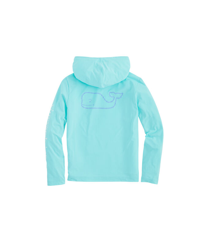 Girls Long-Sleeve Whale Hoodie Sunshirt