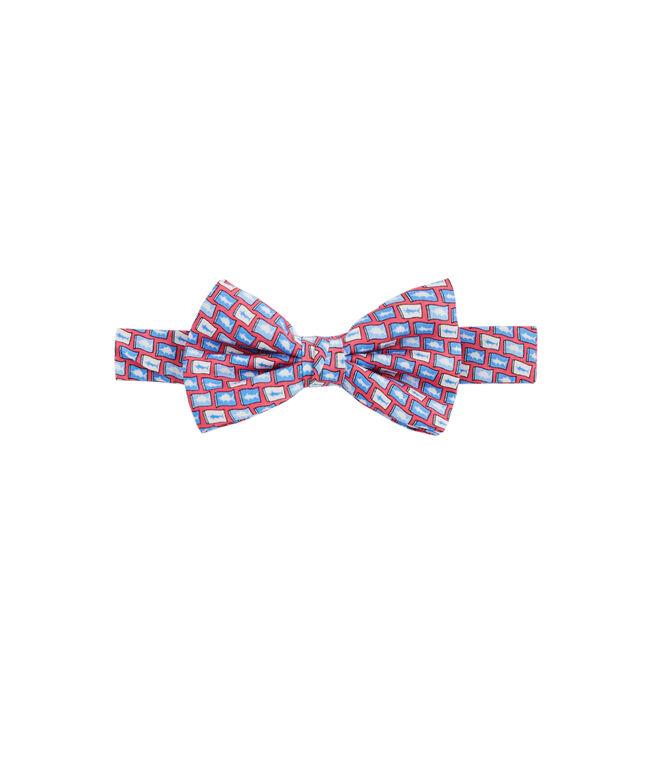 Boys Fish Flag Bow Tie