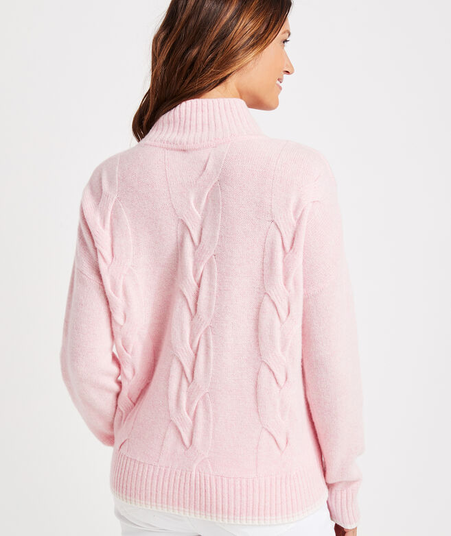 Lofty Cashmere Fisherman Mockneck Sweater