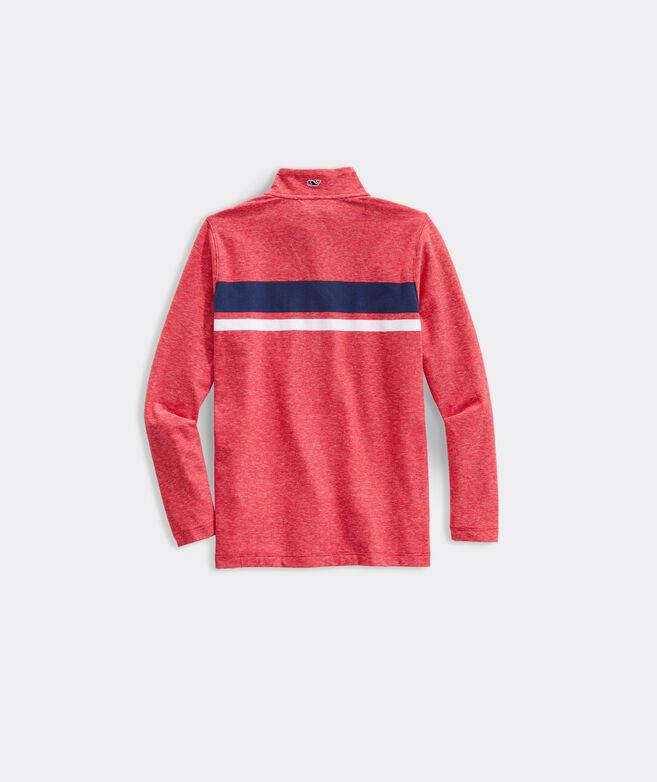 Boys' Edgartown 1/2-Zip Chest Stripe Shep Shirt