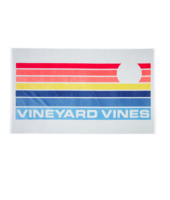Sunset Stripe Beach Towel