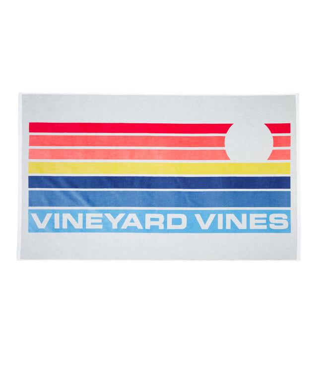 Sunset Stripe Beach Towel