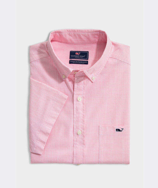 Classic Fit Bougainvillea Tucker Short-Sleeve Button-Down Shirt