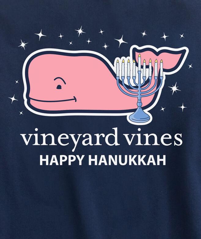 Long-Sleeve 2019 Hanukkah Whale Pocket T-Shirt