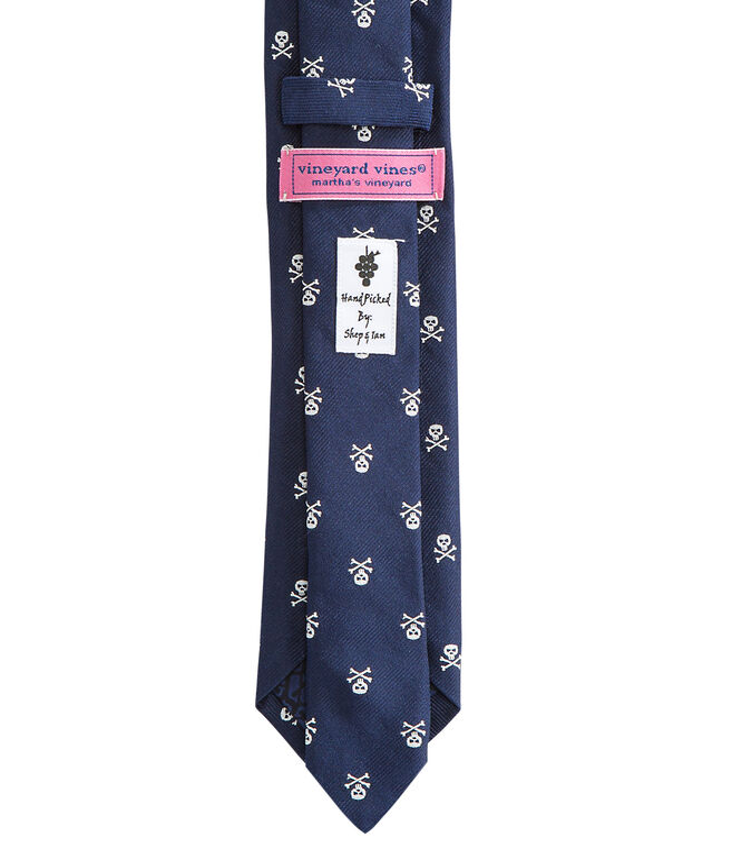 Kennedy Skull & Crossbones Skinny Tie