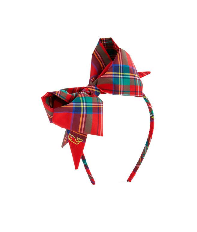 Girls Jolly Plaid Bow Headband