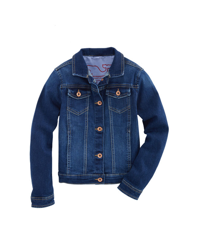 Girls Indigo Denim Jacket