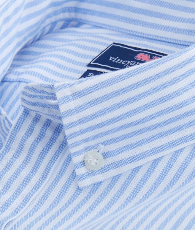 Tiloo Cay Stripe Stretch Oxford Slim Stretch Tucker Shirt