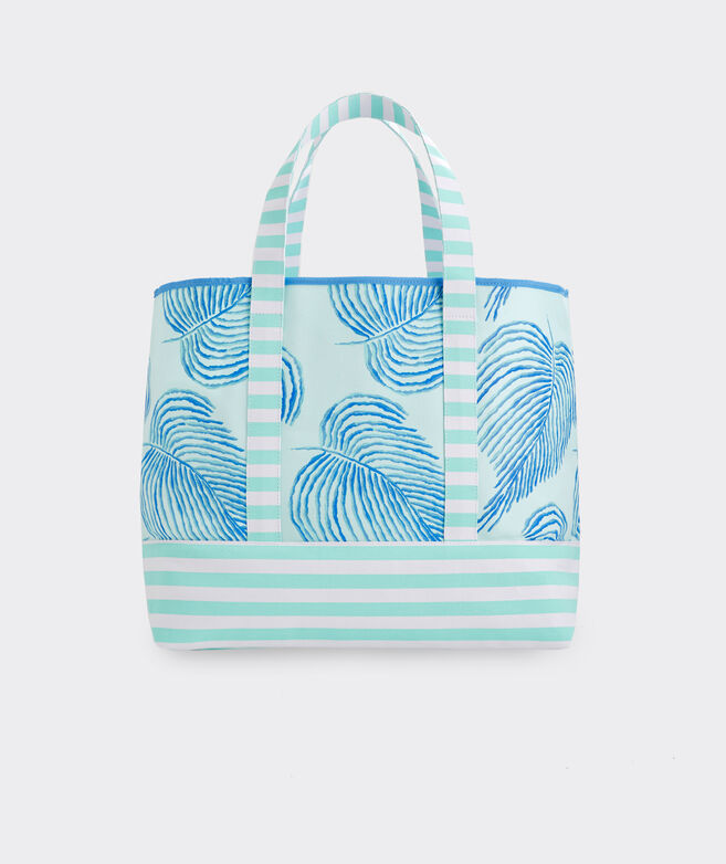 Palm Fronds Mix Print Tote