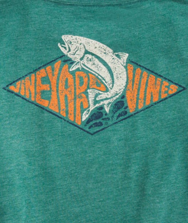 Boys' Retro Trout Patch Long-Sleeve Pocket Tee