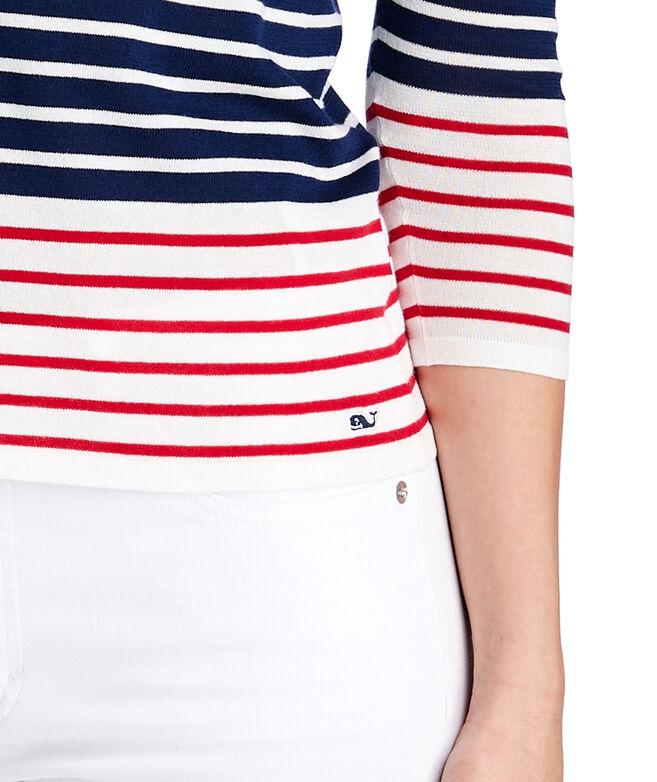 Americana Stripe Boatneck Sweater