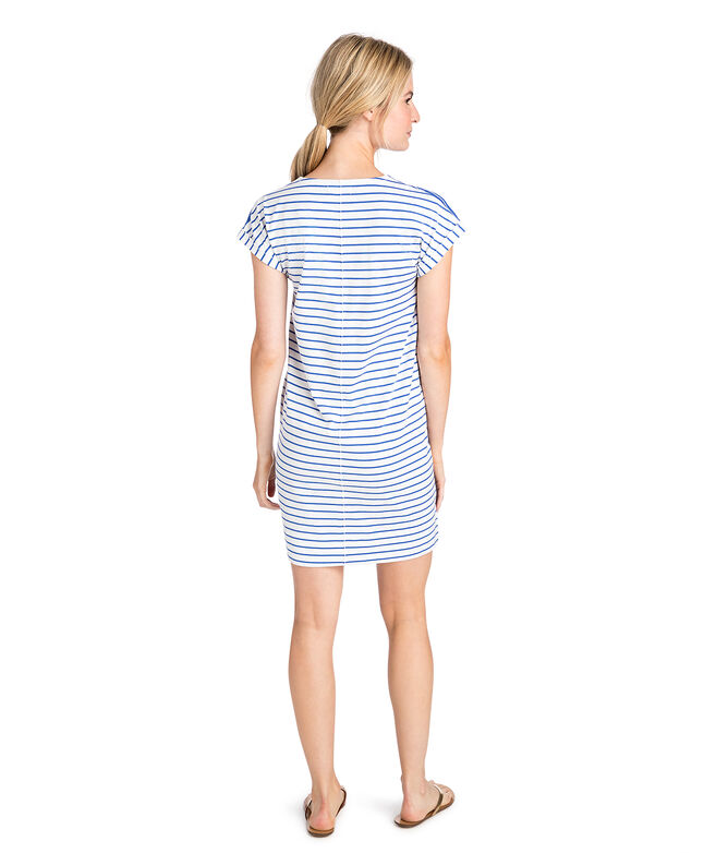 V-Neck Mixed Stripe Dress
