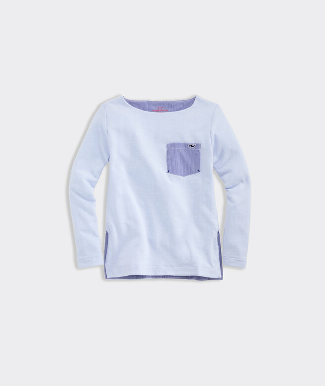 Girls' Tri-Blend Fleece Sweatshirt Tunic with Pocket