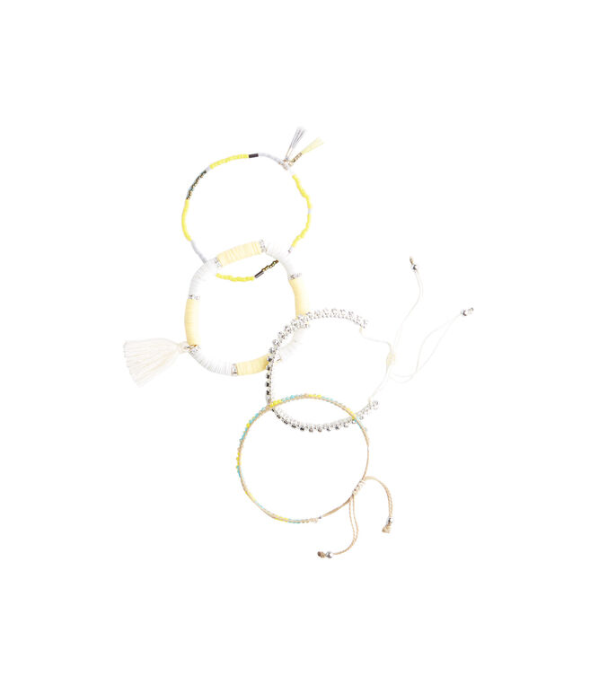 Yellow Beaded Bracelet Set