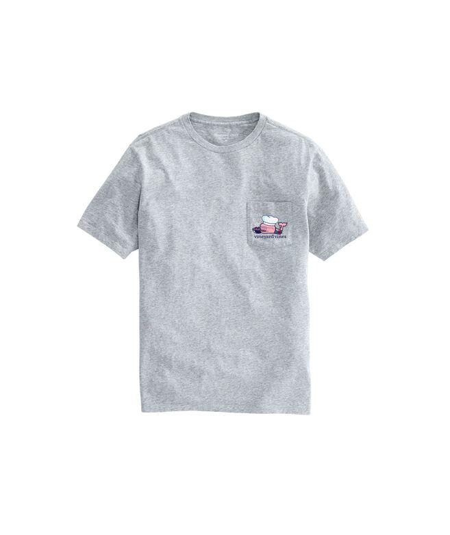 Big & Tall BBQ Whale Pocket T-Shirt