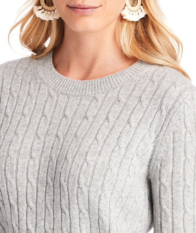 Striped Cuff Coral Lane Cashmere Sweater