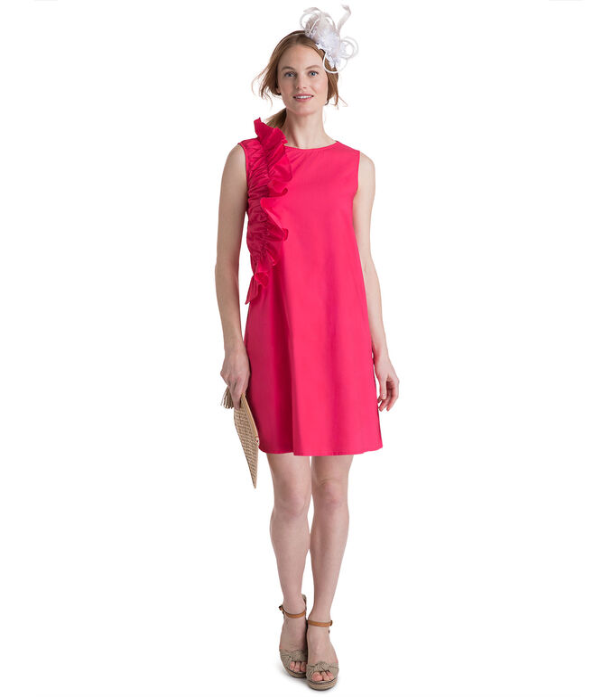 Ruffle A-Line Shift Dress
