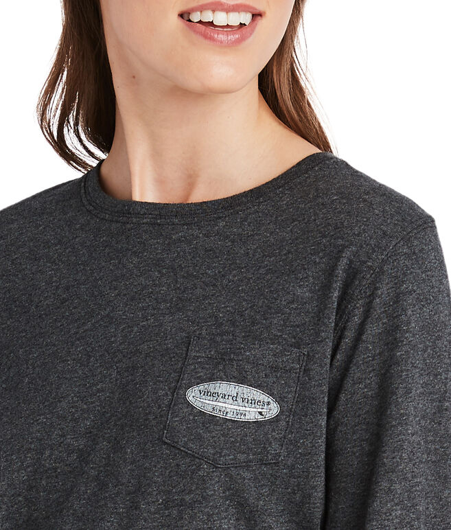 Long-Sleeve Surf Logo Fill Pocket Tee