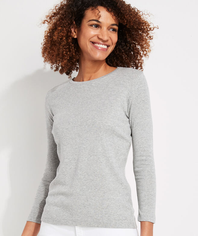 Simple Crewneck Long-Sleeve Tee