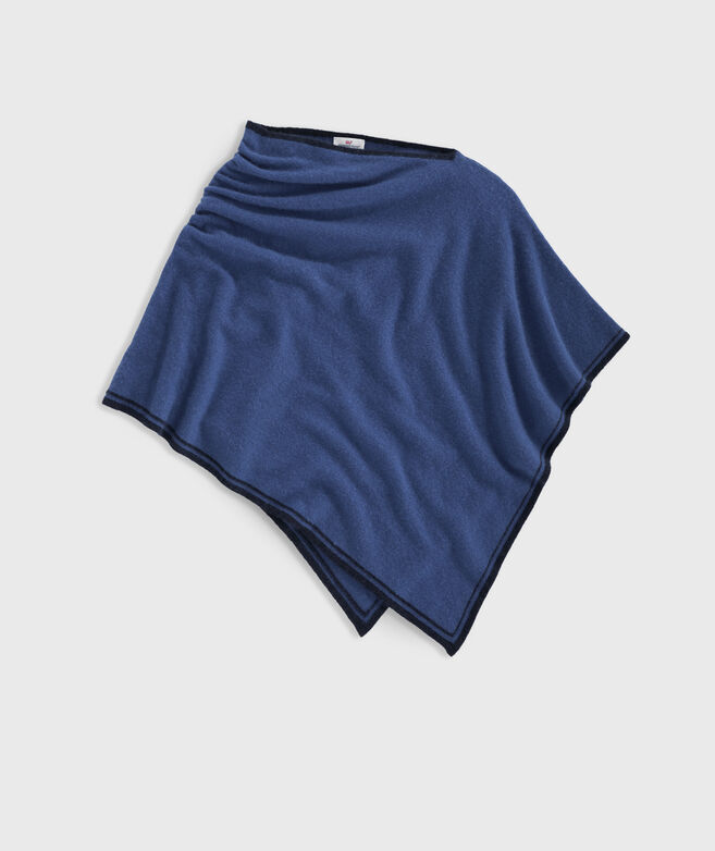Cashmere Tipped Poncho