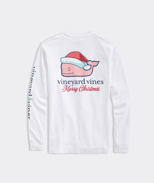Christmas Whale Long-Sleeve Pocket Tee