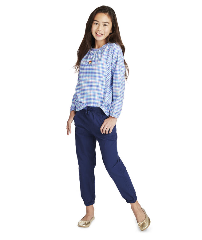 Girls Garment Overdyed Pull On Pants