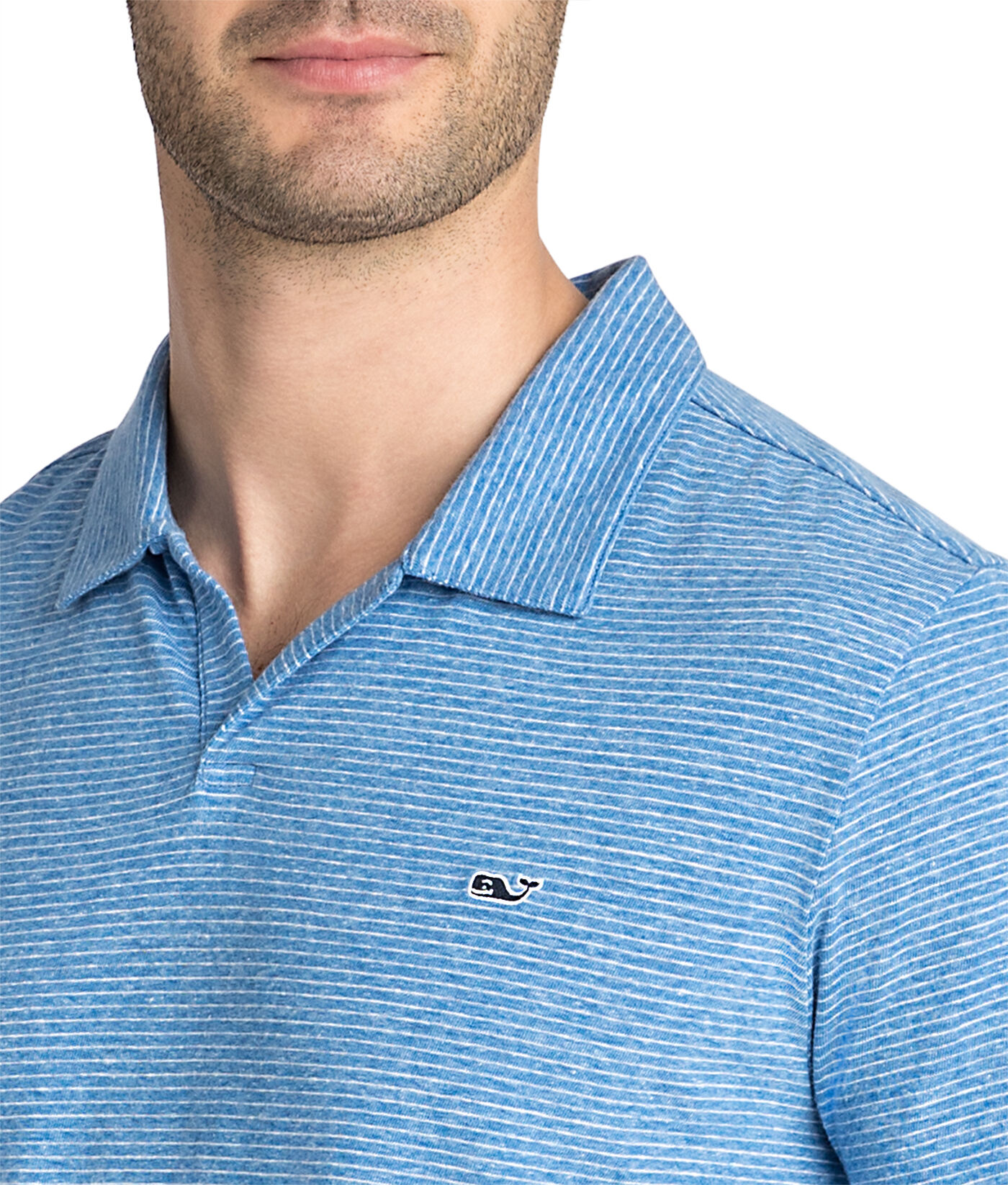 Vineyard Vines Performance Boys Ocean Breeze Wilson Stripe Short Sleeve Polo