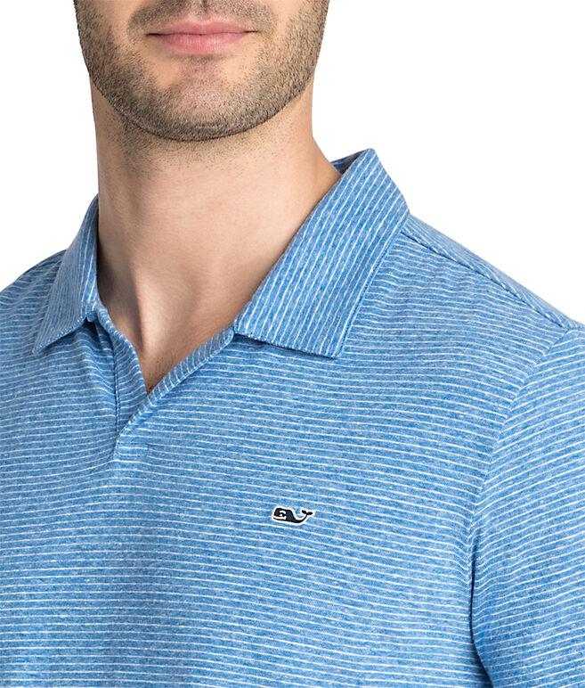Striped Linen Cotton Polo