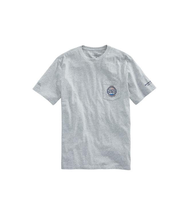 Adult Boston Marathon Wicked Strong Circle T-Shirt