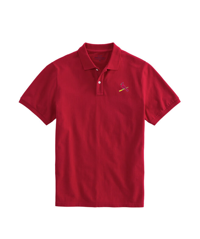 St. Louis Cardinals Stretch Pique Polo