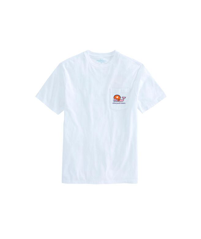 Clemson University Whale Helmet T-Shirt