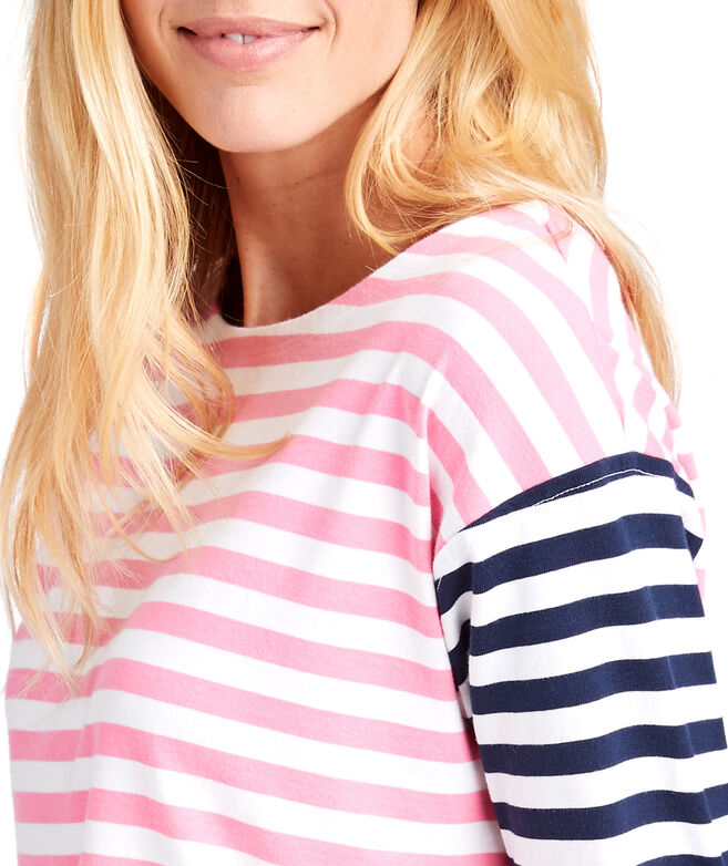 Mixed Stripe Knit Top