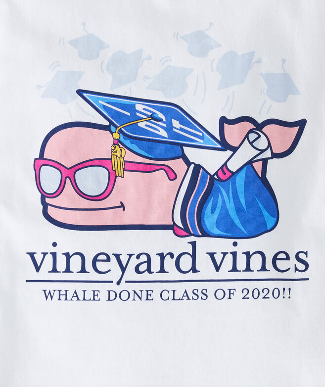 Girls' Class of 2020 Graduation Whale Short-Sleeve Pocket Tee
