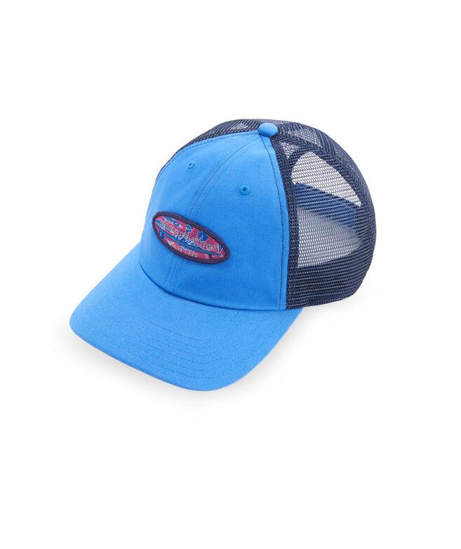 Tribal Fish Logo Box Trucker Hat