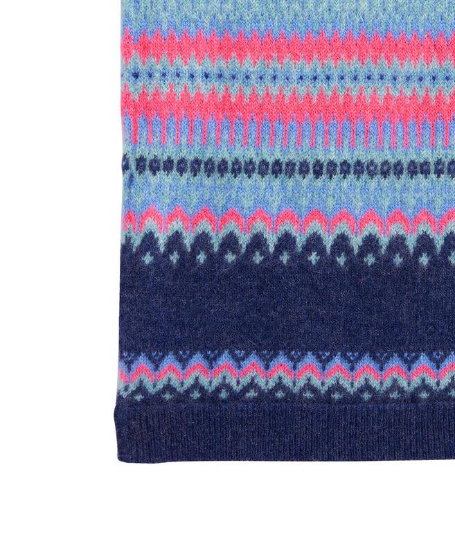 Pop Fairisle Knit Scarf