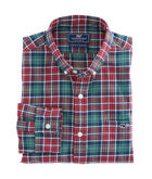 Bold Point Plaid Performance Flannel Slim Tucker Shirt
