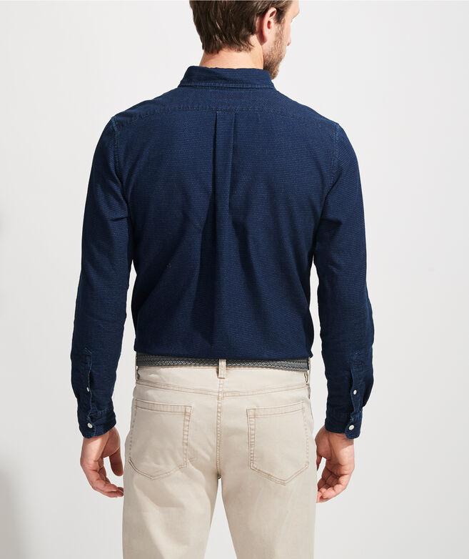 Slim Fit Indigo Dobby Murray Button-Down Shirt
